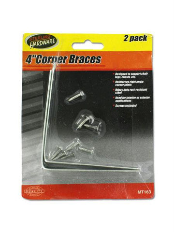 Corner Braces with Screws (Available in a pack of 24)