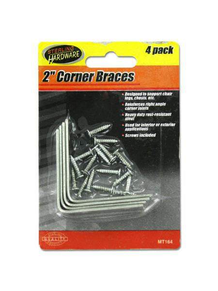 Corner Braces with Mounting Hardware (Available in a pack of 24)