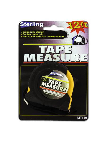 Tape Measure with Rubber Outer Grip (Available in a pack of 24)