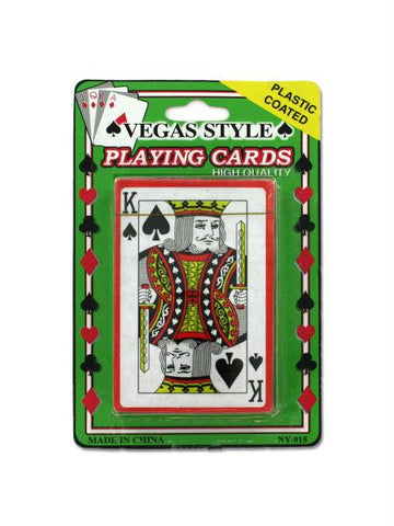 Plastic Coated Poker Size Playing Cards (Available in a pack of 24)