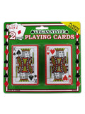 Plastic Coated Poker Size Playing Cards Set (Available in a pack of 24)