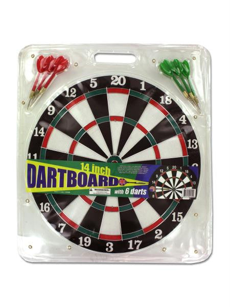 Dartboard with Metal Tip Darts (Available in a pack of 4)