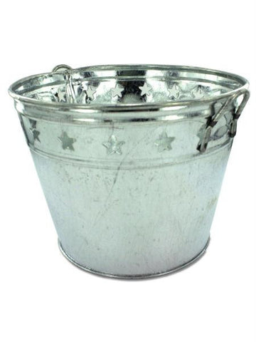Tin Bucket with Stars (Available in a pack of 12)