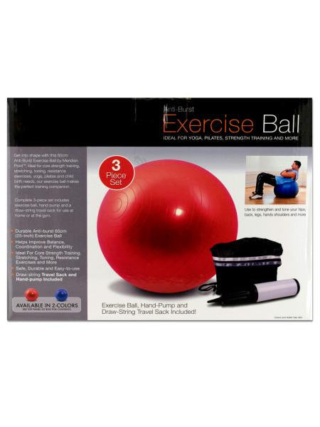 Exercise Ball with Pump (Available in a pack of 1)