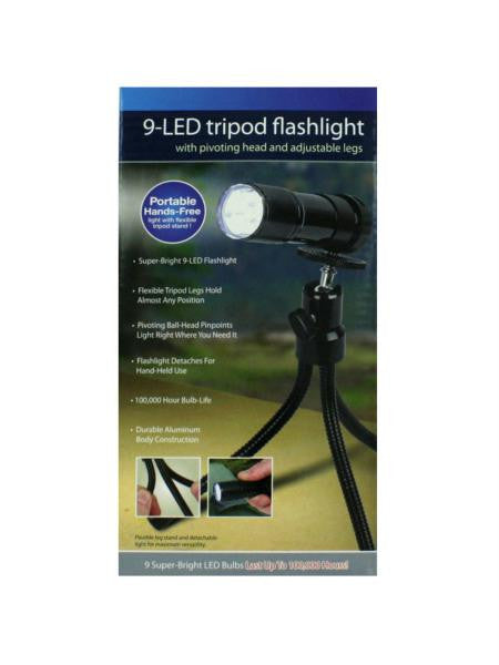 Tripod Flashlight with 9 LEDs (Available in a pack of 4)
