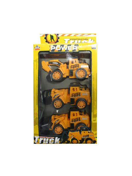 Pull Back Construction Trucks (Available in a pack of 6)