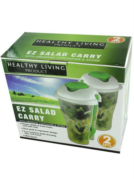 Salad Container Set with Dressing Containers & Forks (Available in a pack of 4)