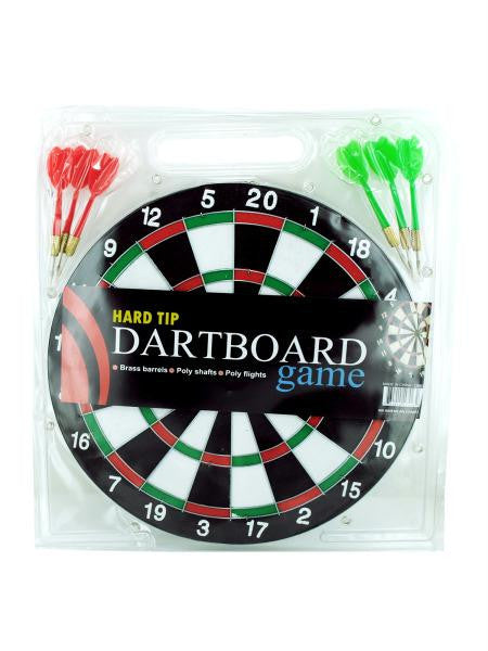Dartboard Game with Hard Tip Darts (Available in a pack of 6)