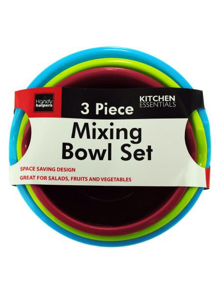 Plastic Mixing Bowl Set (Available in a pack of 4)