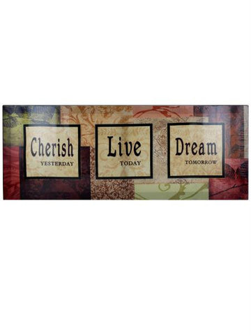 Cherish - Love - Dream Canvas Art (Available in a pack of 4)