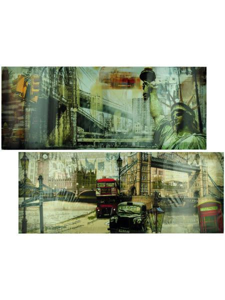 Cityscape Canvas Art (Available in a pack of 4)