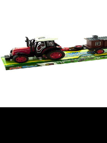 Friction Farm Tractor Truck and Trailer Set (Available in a pack of 4)