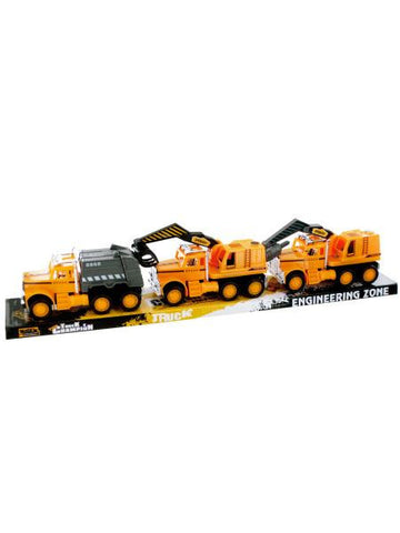 Friction Powered Construction Trucks (Available in a pack of 24)