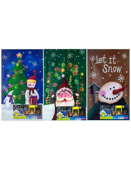 Light-Up Christmas Wall Art (Available in a pack of 1)
