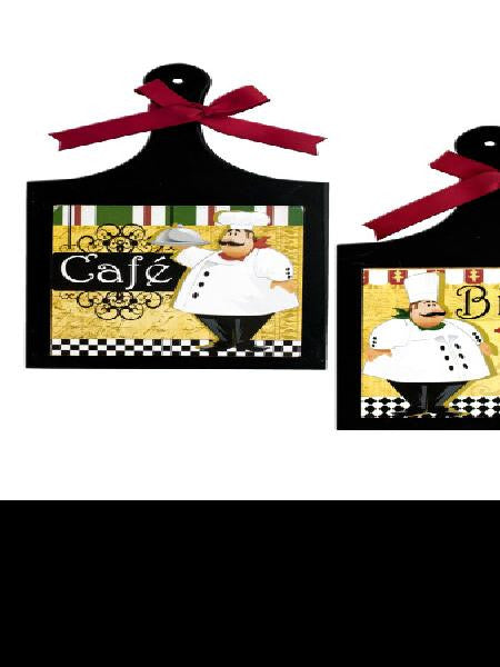 French Chef Wall Plaque (Available in a pack of 4)