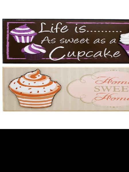 Cupcake Wall Plaque (Available in a pack of 4)