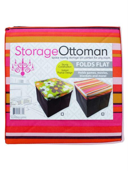 Fabric Storage Ottoman (Available in a pack of 4)