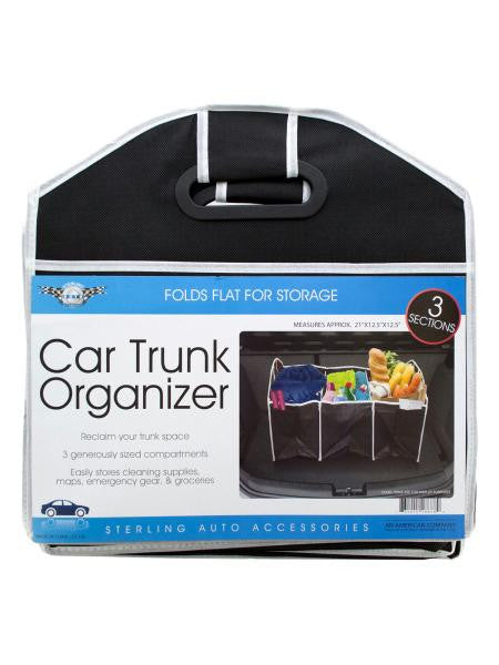 Three Section Auto Trunk Organizer (Available in a pack of 4)