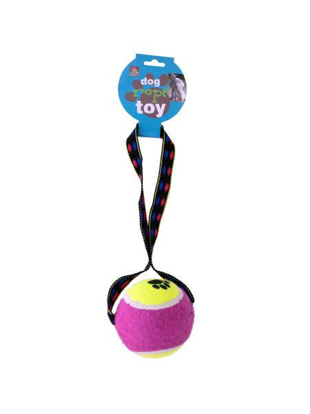 Tennis Ball Rope Toy (Available in a pack of 6)