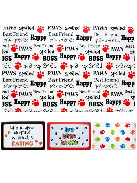 Pet Food Mat (Available in a pack of 24)