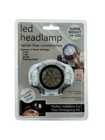 LED Headlamp with 4 Mode Settings (Available in a pack of 4)