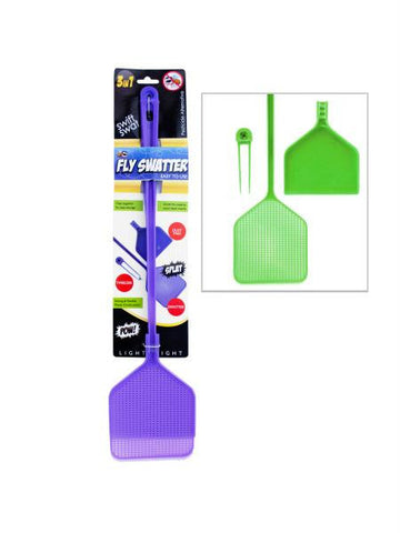 Three-In-One Fly Swatter (Available in a pack of 24)