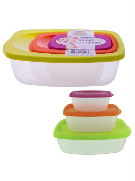 Nesting Rectangular Storage Container Set (Available in a pack of 4)