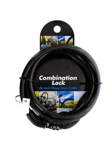 Combination Cable Lock (Available in a pack of 4)