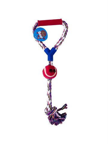 Jumbo Pull Rope Dog Toy with Ball (Available in a pack of 10)