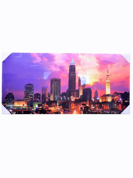 "13"" x 28"" Cityscape Sunset Wrap Canvas Art (Available in a pack of 4)"