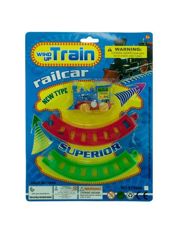 Wind-Up Toy Train with Track Set (Available in a pack of 24)