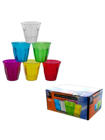 Colorful Plastic Tumbler Set (Available in a pack of 1)