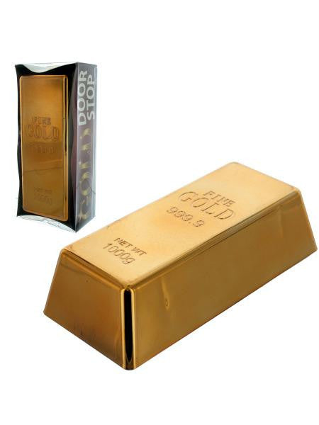 Faux Gold Bar Door Stop (Available in a pack of 1)