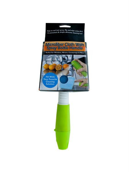 Microfiber Cloth With Spray Bottle Handle (Available in a pack of 4)