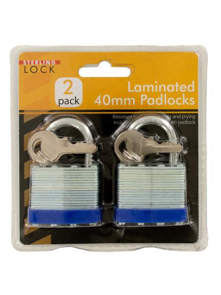 Laminated 40mm Padlocks Set (Available in a pack of 4)