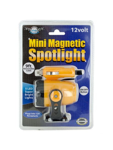 12 Volt Mini Magnetic 5 LED Spotlight (Available in a pack of 4)