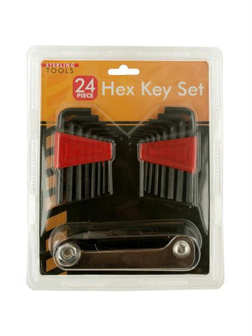 24-Piece Hex Key Set (Available in a pack of 6)