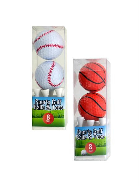 Sports Golf Balls and Tees Set (Available in a pack of 4)