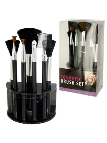 Cosmetic Brush Set With Stand (Available in a pack of 4)