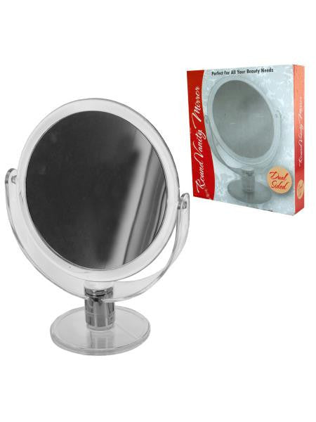 Dual Sided Round Stand Up Vanity Mirror (Available in a pack of 4)