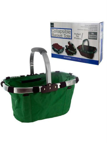 Collapsible Basket Tote with Aluminum Frame (Available in a pack of 4)