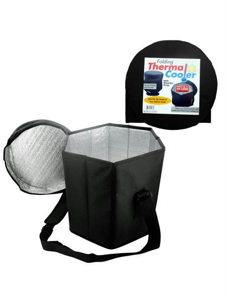 Folding Thermal Cooler with Shoulder Strap (Available in a pack of 1)
