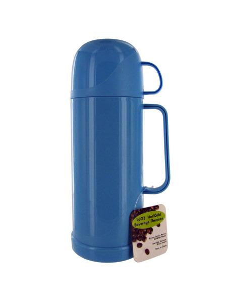 16 Ounce Hot-Cold Beverage Thermos Bottle (Available in a pack of 1)