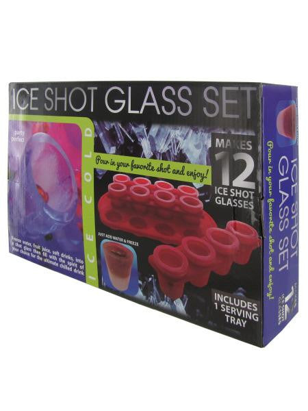 Ice Shot Glass Set With Bonus Tray (Available in a pack of 1)