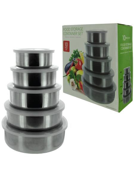 Nesting Metal Food Storage Container Set (Available in a pack of 1)