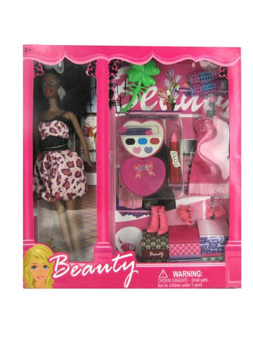 Black Fashion Doll with Dress and Accessories (Available in a pack of 1)