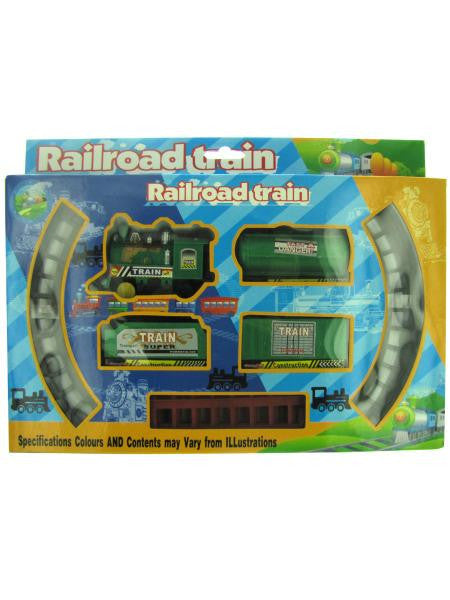 Railroad Train Set (Available in a pack of 4)