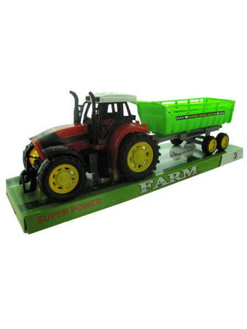Friction Farm Tractor Truck & Trailer Set (Available in a pack of 2)