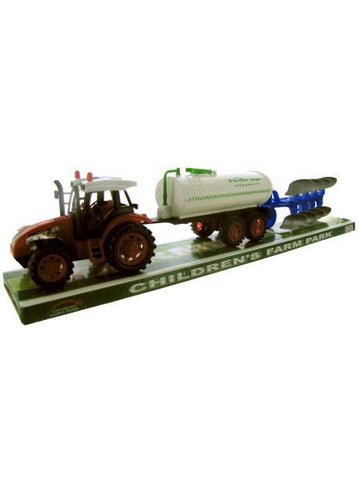 Friction Farm Tractor Truck & Double Trailer Set (Available in a pack of 1)