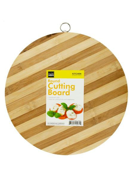 Round Bamboo Cutting Board (Available in a pack of 1)